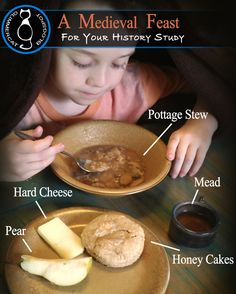 recipes for kids A Medieval Feast fit for a Monk Glimmercat: A Medieval Feast fit for a Monk Mystery Of History, Women's History, British History, Ancient History, American History, Native American, History Medieval, Medieval Recipes, Medieval Crafts