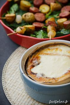 Brochettes de Rattes, Morteau et Oignons, Mont d'Or au Four - Food for Love