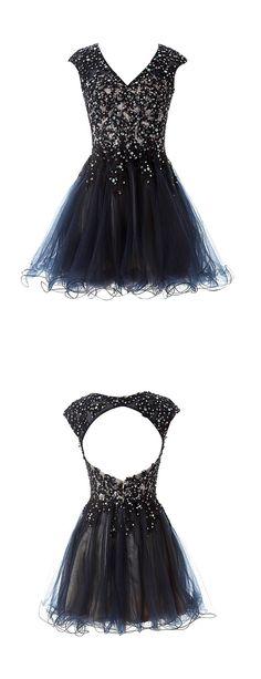 2016 homecoming dress,short prom dress,black homecoming dress,sparkling homecoming dress,cute party dress