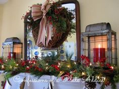 My Farmhouse Christmas Mantel - CONFESSIONS OF A PLATE ADDICT