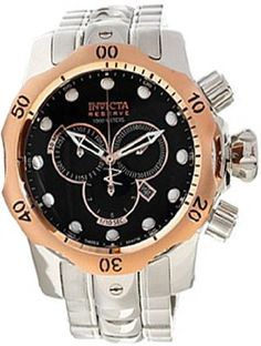 Invicta 10785 Reserve Men's Venom Swiss Made Quartz Black Dial Stainless Steel Bracelet Watch | Your #1 Source for Watches and Accessories