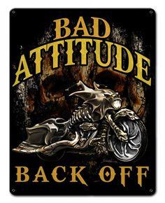 JackandFriends.com - Bad Attitude Bad Ass Bagger Metal Sign 15 x 12 Inches, $24.98 (http://www.jackandfriends.com/bad-attitude-bad-ass-bagger-metal-sign-15-x-12-inches/)