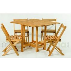 14 BIS (Conjunto Mesa Dobrável com 4 Cadeiras) Mão&Formão - Móveis para Área Externa