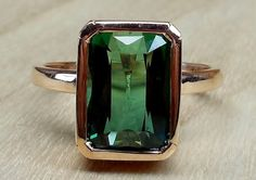 4.96ct Natural Forest Green Tourmaline Emerald by DiamondAddiction, $950.00