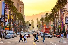 Photo about LOS ANGELES, CALIFORNIA - MARCH Traffic on Hollywood Boulevard at dusk. The theater district is famous tourist attraction. Image of people, district, angeles - 67963567 Hollywood Sign, Hotel Hollywood, Hollywood Boulevard, Hollywood Hills, Hollywood Walk Of Fame, Best Places To Live, Places To Visit, Pier Santa Monica, Destinations D'europe
