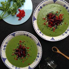 Vanløse blues.....: Kødfri mandag: Spicy spinat suppe