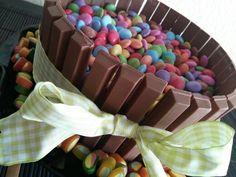 Kitkat, Nutella birthday cake.  Thank you bae. Love u