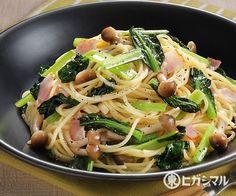小松菜の和風パスタ