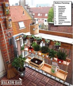 Farming on your own balcony with the BALKONBAR and Hanging Garden. Farming on your own balcony with the BALKONBAR and Hanging Garden.