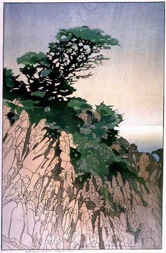 Woodblock prints (Estampes) :: Point Lobos