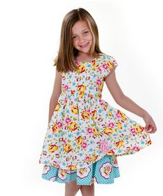 Another great find on #zulily! Pink & Yellow Maiden Collection Katlin Dress - Toddler & Girls #zulilyfinds