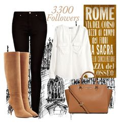 """3300 Followers"" by amymorgan1999 ❤ liked on Polyvore featuring ArteHouse, MANGO, H&M, Ralph Lauren Collection, MICHAEL Michael Kors, women's clothing, women's fashion, women, female and woman"