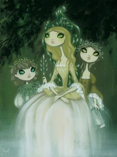 Absinthe Attended by Wormwood and Anise by Krista Huot~ Love this artist!