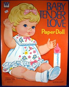 vintage paper dolls | Vintage Collectibles from Barbara Peterson - Baby Tenderlove Paper ...