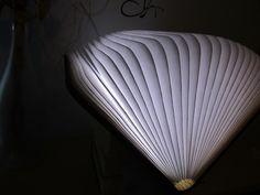 Buch-Leuchte leicht aufgeklappt