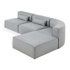 Mix Modular Wedge Sectional - More Colors Block Table, Bolster Cushions, Upholstery Foam, Chair Fabric, Modern Materials, Corner Sofa, Wood Blocks, Home Living Room, Sectional Sofa