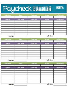 budget worksheet printable | get paid weekly and Charlie gets paid ...