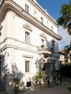 Anna Fendi (of the fashion dynasty) and her daughters opened the stylish Villa Laetitia hotel along the Tiber in an Art Nouveau mansion with meandering gardens. Every room and bath is unique and decorated with antique tiles that Fendi collected on her travels and other eclectic objets d