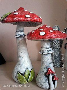 Paper Mache Clay, Paper Mache Crafts, Clay Crafts, Clay Art, Diy And Crafts, Arts And Crafts, How To Paper Mache, Yard Art Crafts, Mushroom Crafts