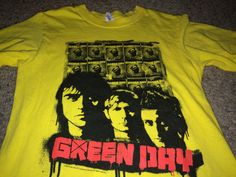 Sale VIntage GREEN DAY Tour 2009 T shirts band music by casualisme