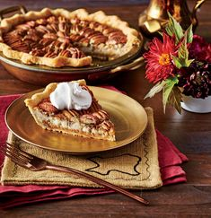 Two of our all-time favorite desserts—pecan pie and cheesecake—combine in this decadent recipe. This Double-Decker Pecan Cheesecake Pie will be Pecan Pie Cheesecake, Cheesecake Recipes, Pie Recipes, Dessert Recipes, Kraft Recipes, Sweet Recipes, Holiday Desserts, Just Desserts, Gourmet