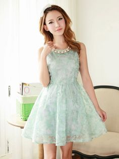 Mango Doll - Flower Embroidered Organza Dress, $51.00 (http://www.mangodoll.com/all-items/flower-embroidered-organza-dress/)