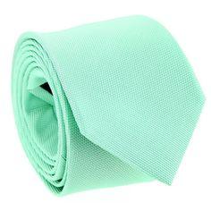 Cravate vert d'eau en soie nattée The Nines - Saint Honoré II