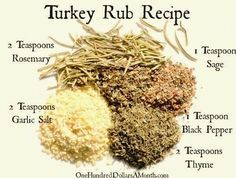 When the Dinner Bell Rings: Homemade Turkey/Poultry Rub Mix