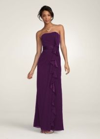 bridesmaide dress option -- I like the ruffle (not the color)