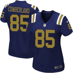 nfl new york jets jeff cumberland women elite navy blue 85 jerseys