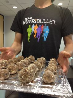 Almond Oat Bites with the help of the NutriBullet.  Gluten and sugar free!