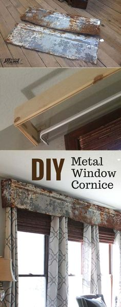 Tin Cornice Tin Valance Vintage Window Valance By