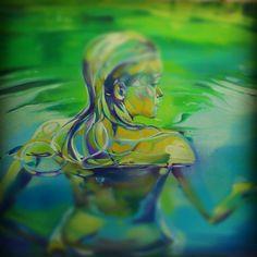 """Secret garden III""  Oil on canvas, 100 x 80 cm 2012 By Ana D'Apuzzo"