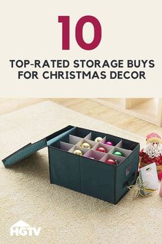 Store Your Christmas Decor and Accessories With These Top-Rated Buys Pack away trees, ornaments, wreaths and other Christmas decor safely and neatly until next year wit Christmas Storage Boxes, Holiday Storage, Storage Hacks, Bag Storage, Lash Room, Christmas Decorations, Holiday Decor, Christmas Ideas, Decorative Storage
