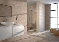 The Ontario 31cm x 56cm porcelain wall and floor tiles are frost proof and are suitable for interior and exterior use.