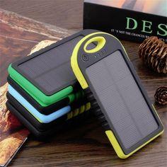 Power Bank 12000mAh USB External Mobile Backup Solar Powerbank Waterproof Battery for Phone iPhone Samsung Universal