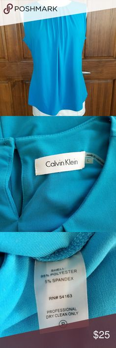 Calvin Klein blouse Pleated front, keyhole back.  Gorgeous color! Calvin Klein Tops Blouses