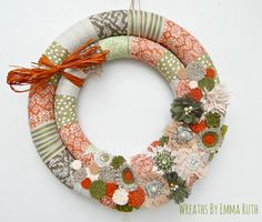Double Wrapped Fall Wreath made by Wreaths By Emma Ruth on Etsy, FB & IG
