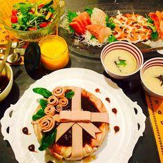 昨日の出張料理教室 - 26件のもぐもぐ - ラブリーなミートローフ、里芋の豆乳ポタージュ、人参ドレッシング by minimaki20
