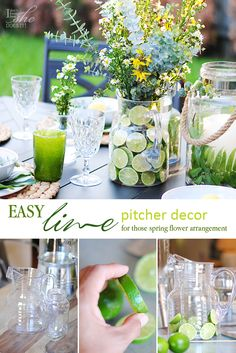 Learn how easy it is to create a @bhglivebetter pitcher decor with limes.