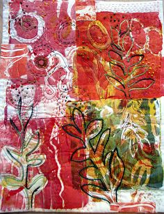 "marmalade greenhouse - Gelli Printed quilt by Jane Lafazio - textile artist Published! in ""Gelli Plate Printing"" by Joan Bess I'm thrilled to be included in the new book, ""Gelli Plate Printing"" by Joan Bess! If you follow my work, you know I love gelli plate printing."