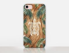 Turtle Wood Print Phone Case-iPhone 7 Case iPhone 7 by CRCases