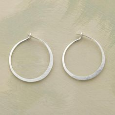 SMALL HAND FORGED STERLING HOOPS $50