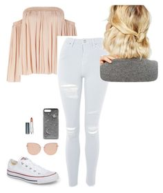 """""""Untitled #8"""" by sjjohnson0609 on Polyvore featuring Elizabeth and James, Topshop, Converse, WithChic, CHARLES & KEITH and Maybelline"""