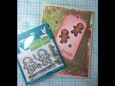 lawn fawn - oh snap! simple watercolour and embossing - YouTube