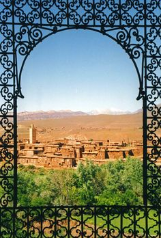 Telouet | View from the Kasbah at Telouet, Morocco