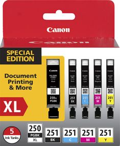 Canon - 250 XL/CLI-251 5-Pack Special Edition Pack 5-pack Ink Cartridges