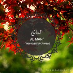 Al-Mani',The Preventer of Harm,,Islam,Muslim,99 Names