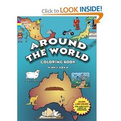Around the World Coloring Book (Dover History Coloring Book): Winky Adam, Coloring Books: 9780486439839: Amazon.com: Books