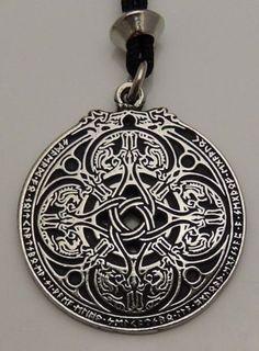 Anglo-Saxon DRAGON Shield WARRIOR Pendant Necklace PROTECTION magick Pepi & Co